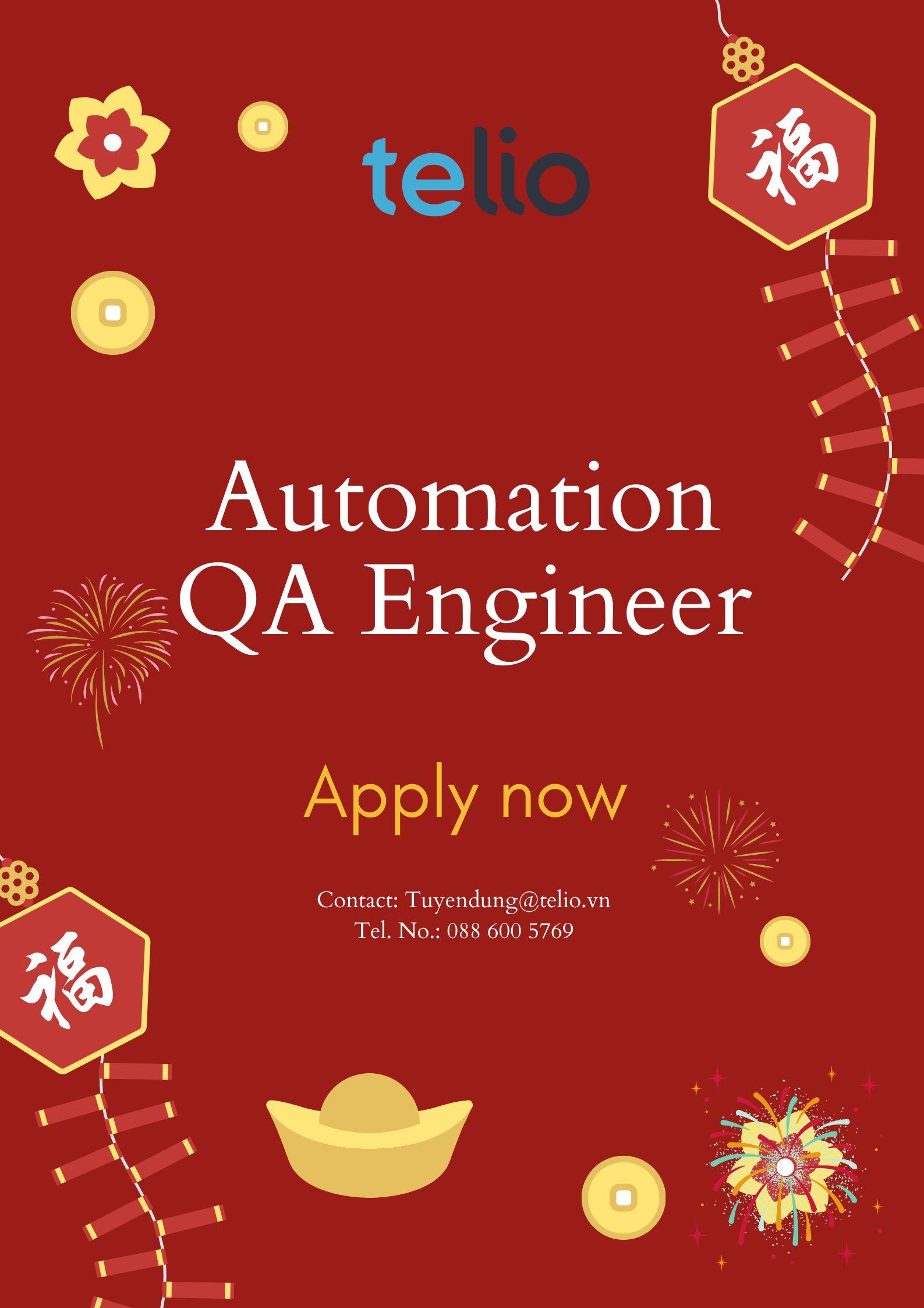[HN/HCM] Senior Automation QA Engineer(QA, QC)