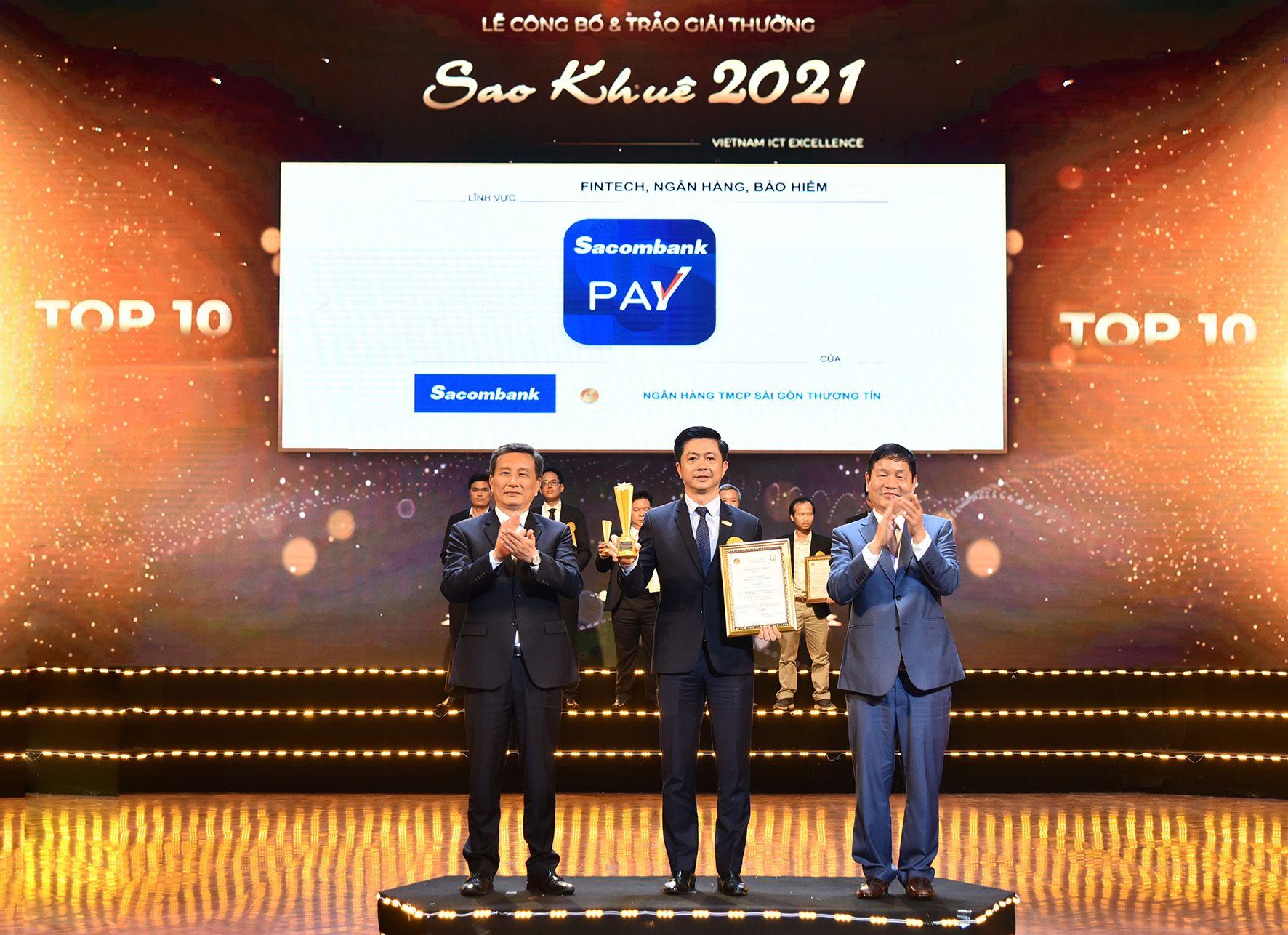 ỨNG DỤNG SACOMBANK PAY ĐẠT GIẢI THƯỞNG SAO KHUÊ 2021