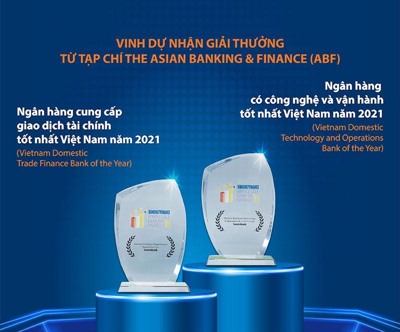 SACOMBANK NHẬN 2 GIẢI THƯỞNG TỪ THE ASIAN BANKING & FINANCE